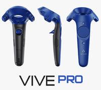 3D htc vive controller blue