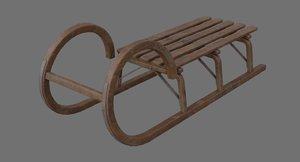 3D sled 2b model