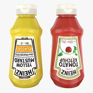mustard ketchup 3D model