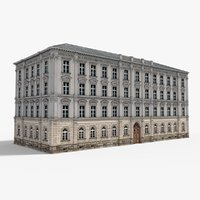 3D european neoclassical house building model