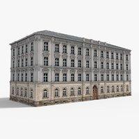 3D european neoclassical house building model