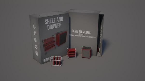 3D shelf drawerl
