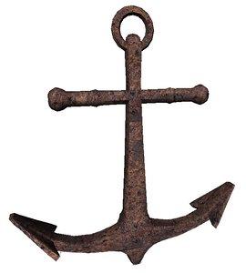3D model anchor rusty