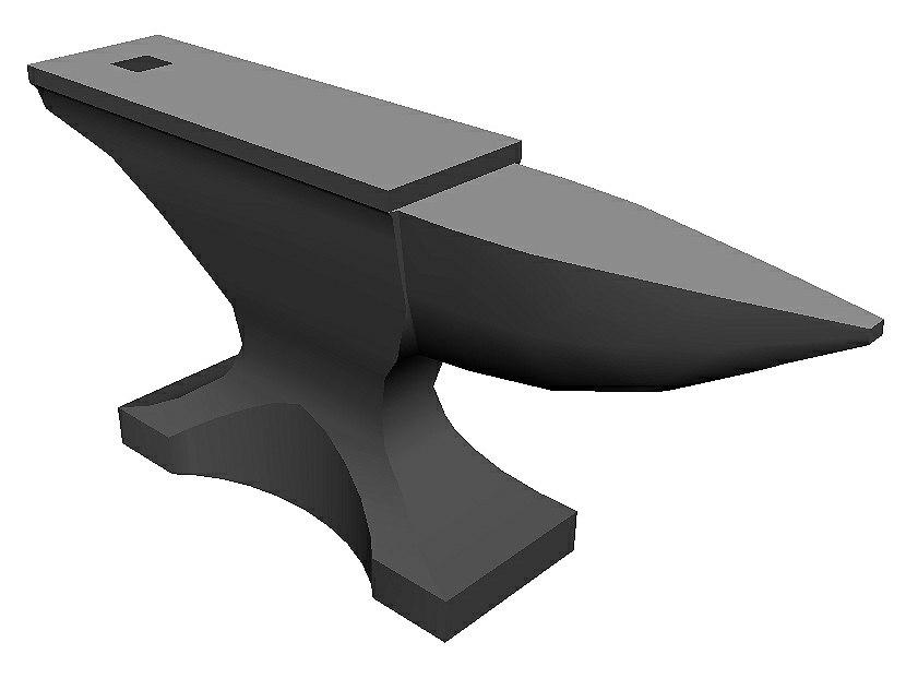 3D anvil steel