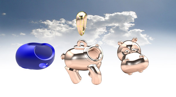 hippo pendant 3D model