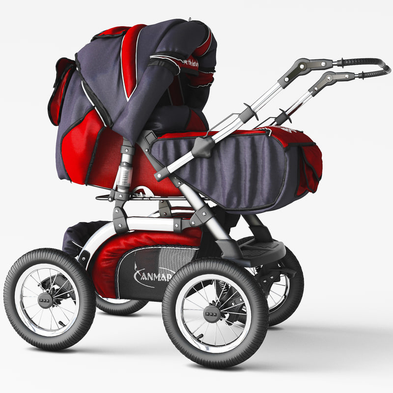 3D baby carriage car