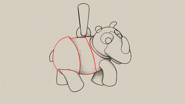rhinoceros pendant model