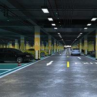 3D model underground parking