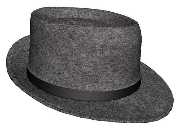 3D felt hat model