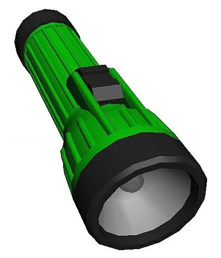 flashlight light 3D model