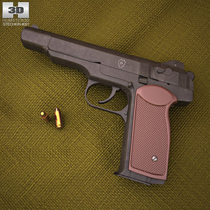 stechkin pistol automatic 3D