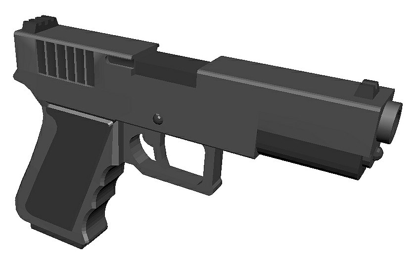 glock gun 3D model