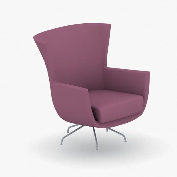 3D - armchair chair stool model