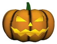 3D jack pumpkin model
