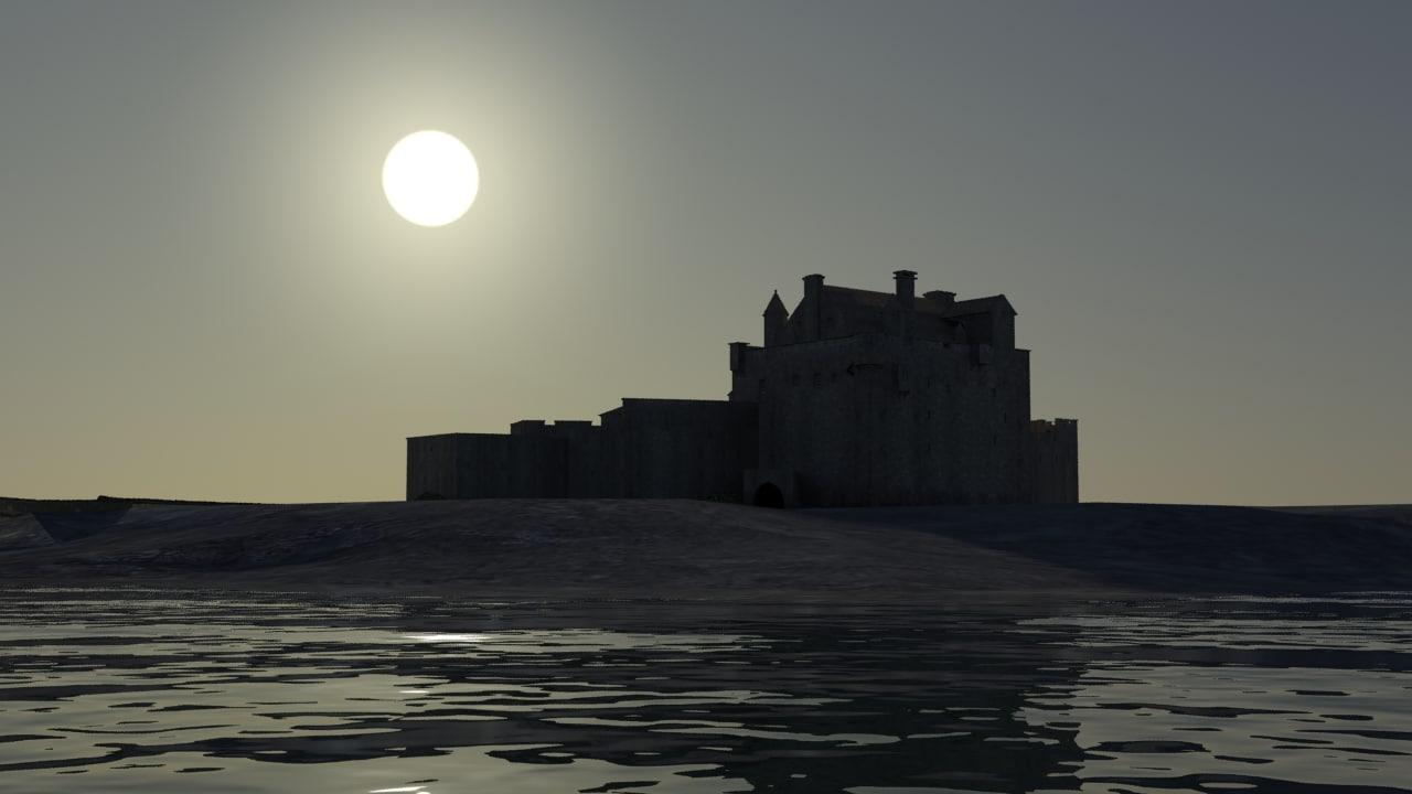 3D eilean-donan-castle model