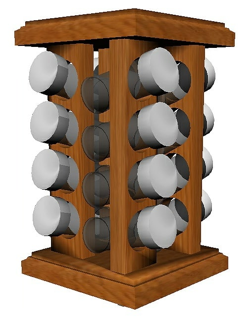 Merveilleux Spice Rack Turntable 3D Model