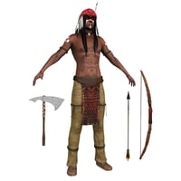 native american man model