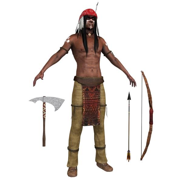 native american man model