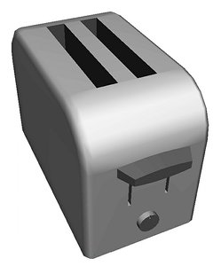 3D toaster showing homes model