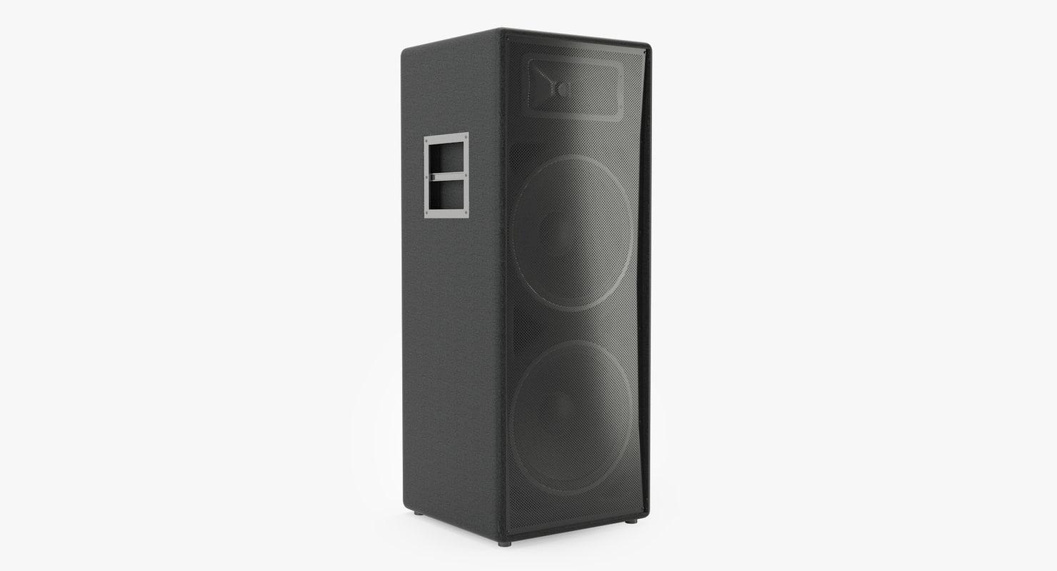 3D model dj speaker