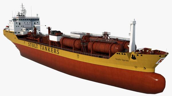 3D oil tanker stolt spray