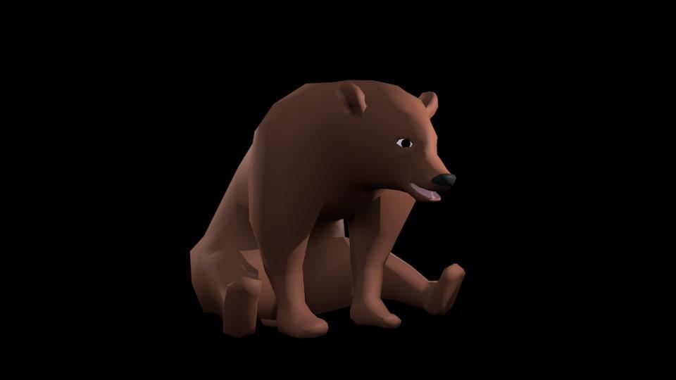bear cartoon model