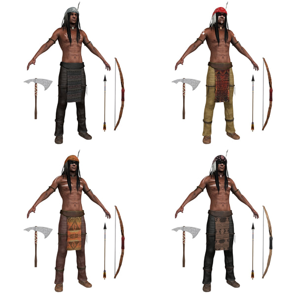 pack native american 3D