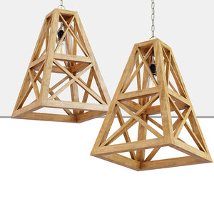 derby wood pendant 3D model