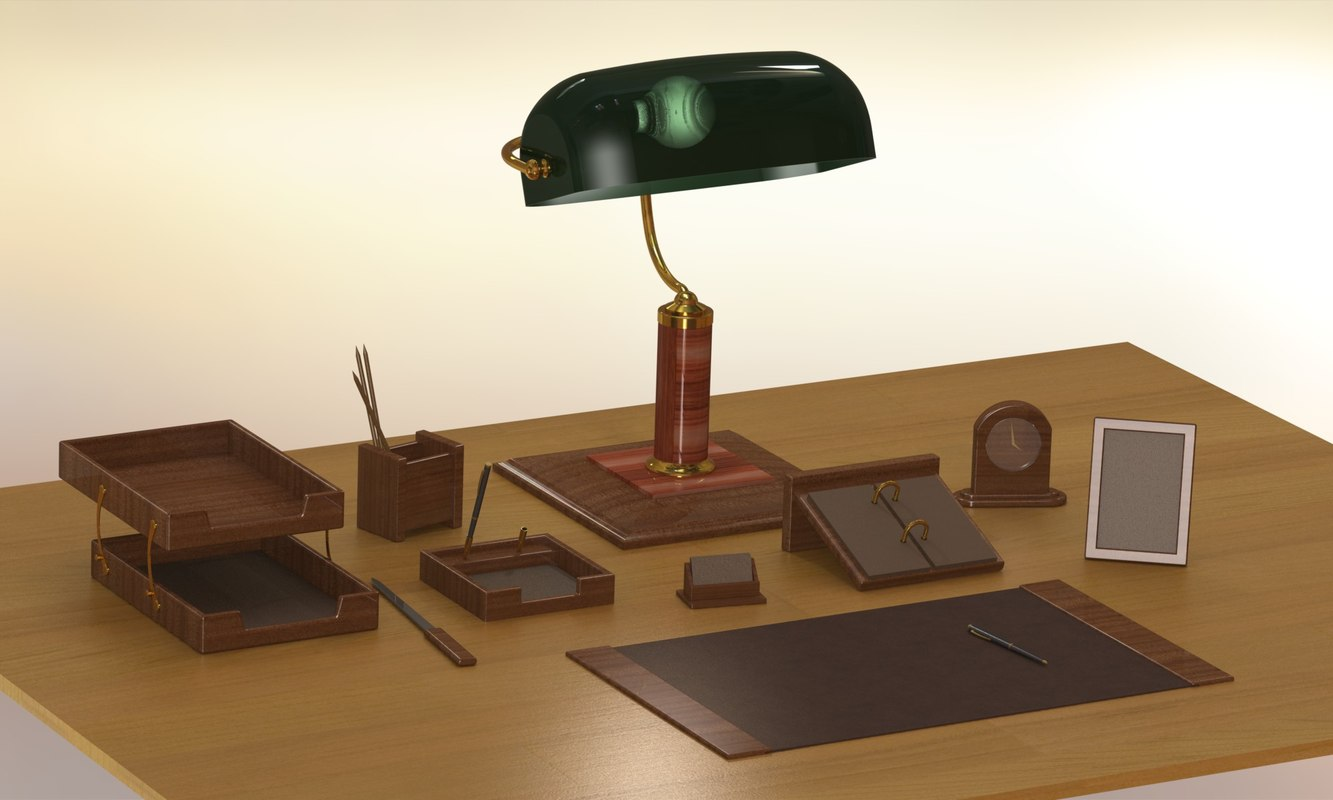 office desk pen lamp model