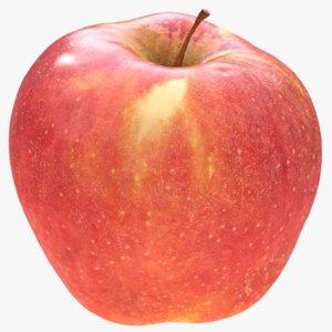 big red apple scanned 3D