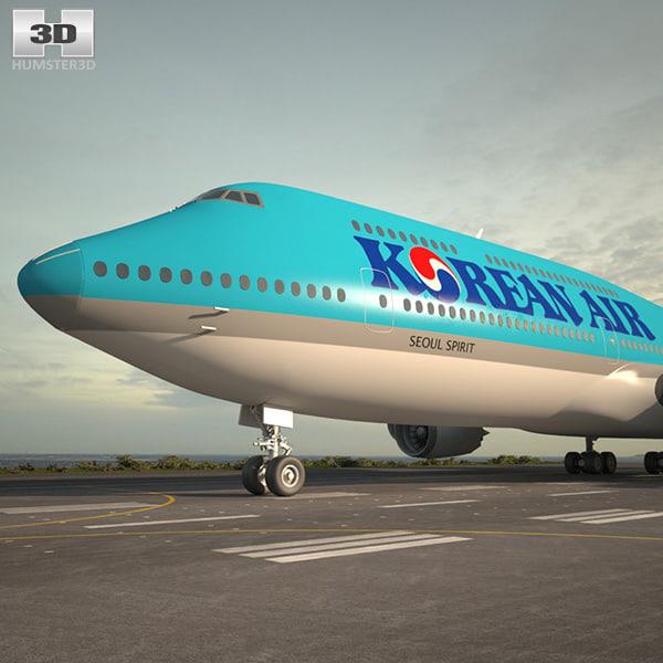 3D boeing 747 8i