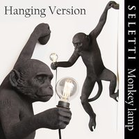 3D monkey lamp hanging version
