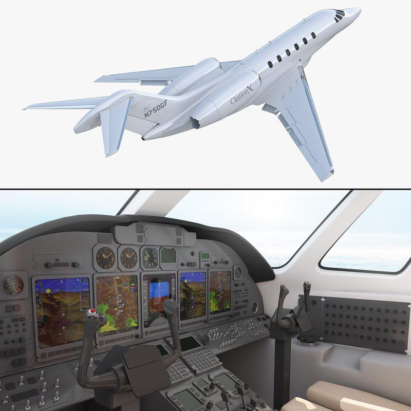 business jet cessna citation 3D