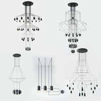 WIREFLOW FREEFORM LED SUSPENSION LAMPS set