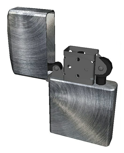 metal lighter 3D model