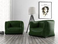 rilius leather armchair 3D