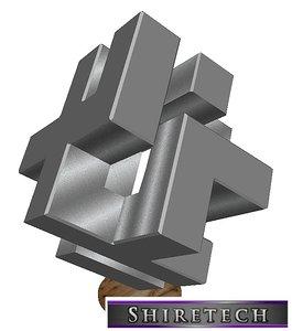 3D model metal art sculpture 07