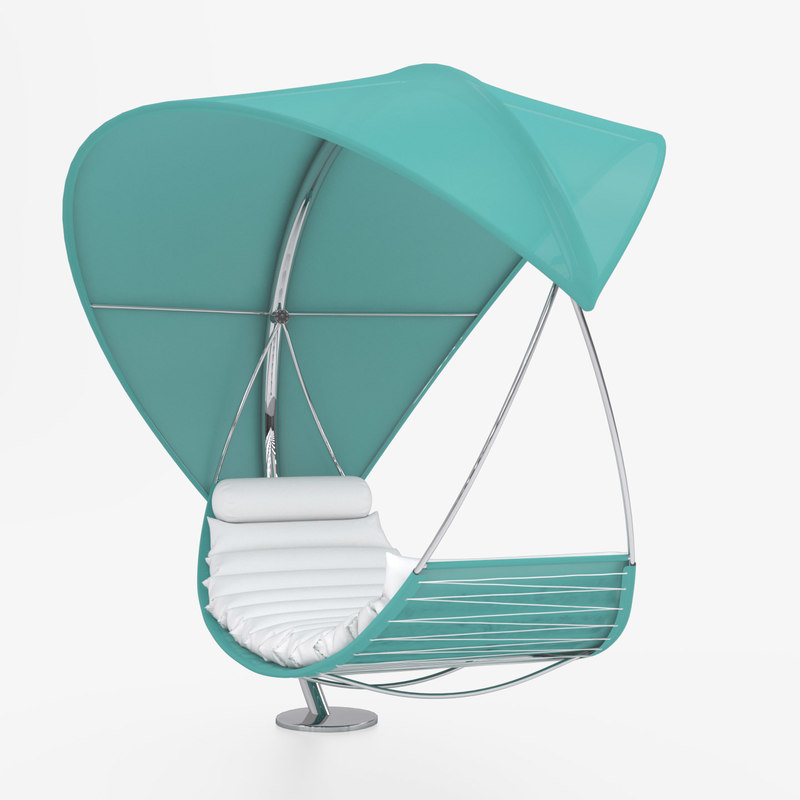 sunbed hammock royal botania 3D model