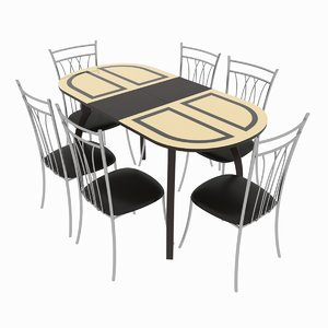 dining set consisting table 3D