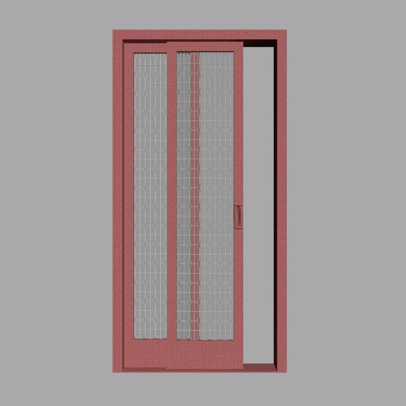 3D red door