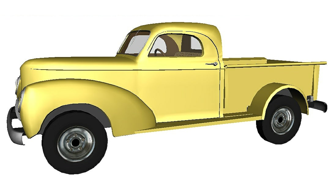 truck - yellow 3D model