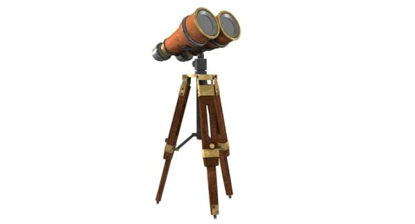 3D model early binoculars