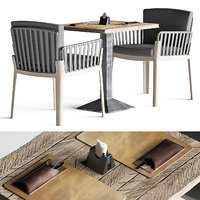 miami chair welded table setting 3D model