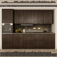 Kitchen Ikea Method Ekestad brown.