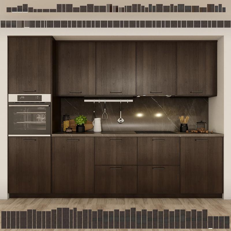 3D kitchen method ikea ekestad model