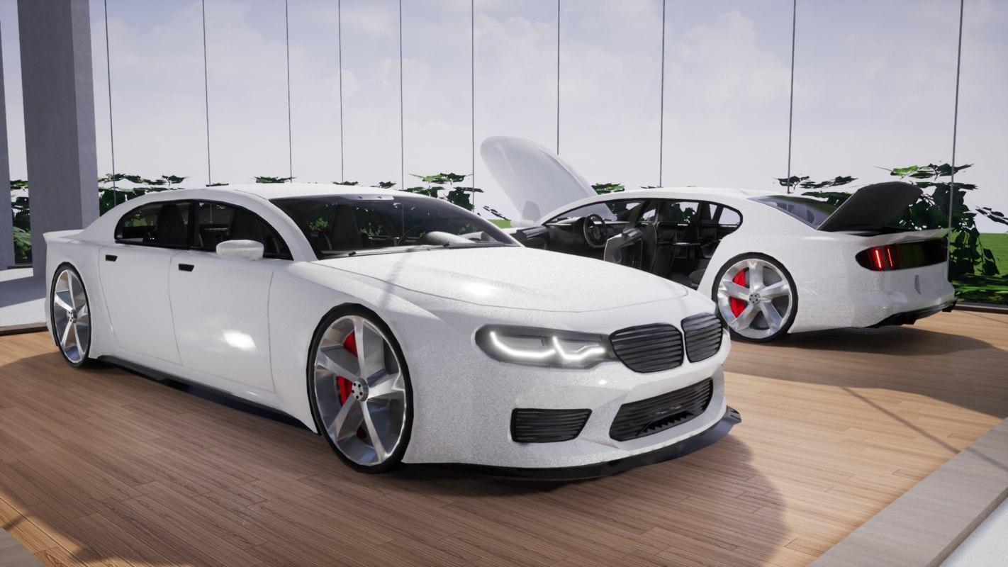 car details large sedan 3D model