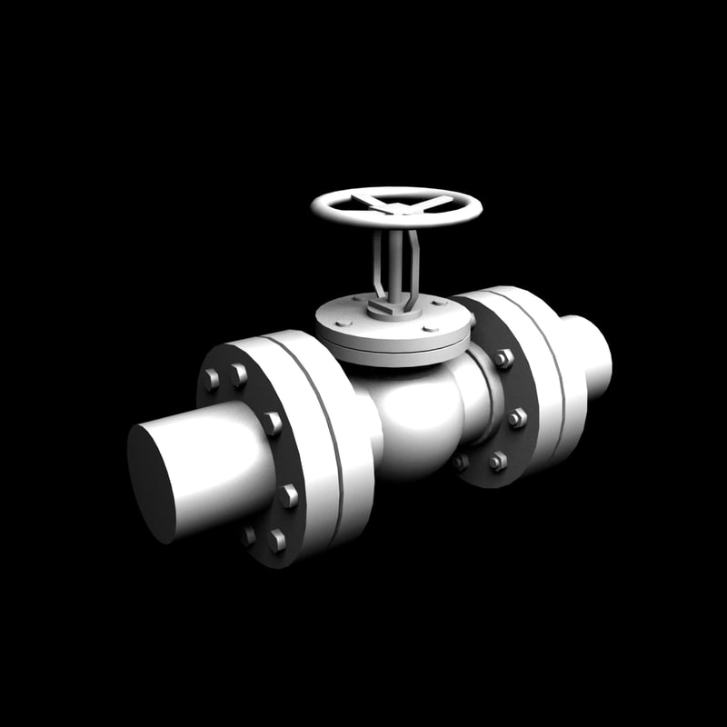 industrial water pipes 3D model