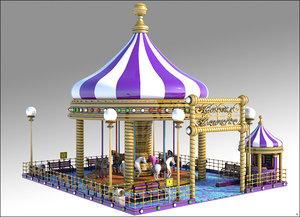 carousel cartoon 3D model