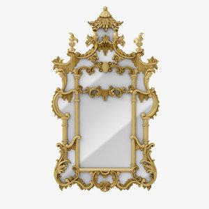 3D chinoiserie mirror