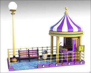 cabine 3D model